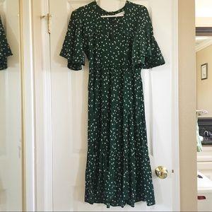 Faithfull the brand Melina green midi dress